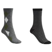 b.ella Diamond and Stripe Socks - 2-Pack (For Women) in Grey/Black - Closeouts