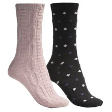 b.ella Dot and Solid Socks - 2-Pack (For Women) in Black/Pink - Closeouts
