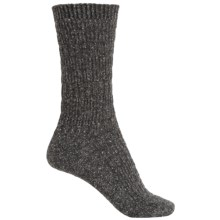 b.ella Elsa Textured Stripe Socks - Crew (For Women) in Caviar - Closeouts