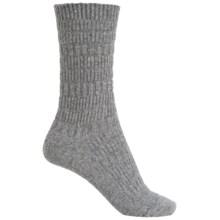 b.ella Elsa Textured Stripe Socks - Crew (For Women) in Gray - Closeouts