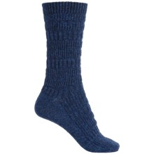 b.ella Elsa Textured Stripe Socks - Crew (For Women) in Navy - Closeouts