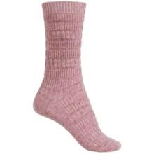 b.ella Elsa Textured Stripe Socks - Crew (For Women) in Pink Marl - Closeouts