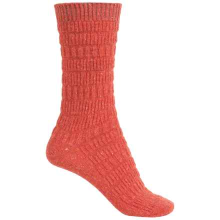 b.ella Elsa Textured Stripe Socks - Crew (For Women) in Red - Closeouts