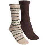 b.ella Fair Isle and Solid Socks - 2-Pack (For Women)