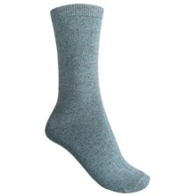 b.ella Faye Speckled Jersey Crew Socks (For Women) in Teal - Closeouts