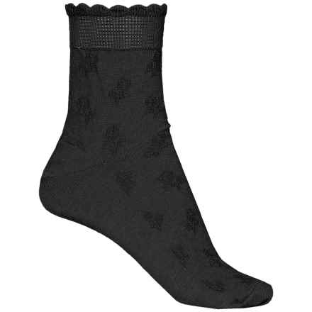 b.ella Fleur Socks - Ankle (For Women) in Caviar - Closeouts
