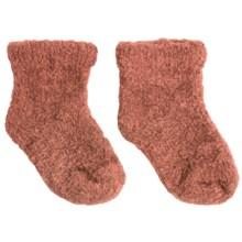 b.ella Fluffy Bootie Socks (For Infants) in Orange - Closeouts