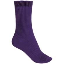 b.ella Janet Merino Wool Socks - Crew (For Women) in Purple - Closeouts