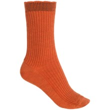 b.ella Janet Merino Wool Socks - Crew (For Women) in Rust - Closeouts