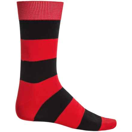 b.ella Jeffrey Rugby Striped Socks - Mercerized Cotton, Crew (For Men) in Red - Closeouts