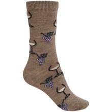 b.ella Juliet Wine & Grapes Socks - Merino Wool, Crew (For Women) in Taupe - Closeouts