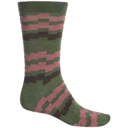 b.ella Kenny Socks - Crew (For Men) in Olive - Closeouts