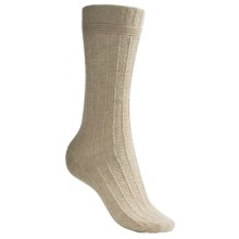b.ella Lattice Rib Socks - Wool Blend (For Women) in Oatmeal - Closeouts