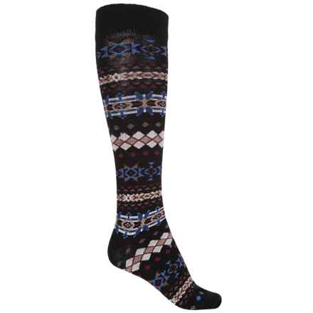 b.ella Lori Knee-High Socks - Merino Wool, Over the Calf (For Women) in Caviar - Closeouts