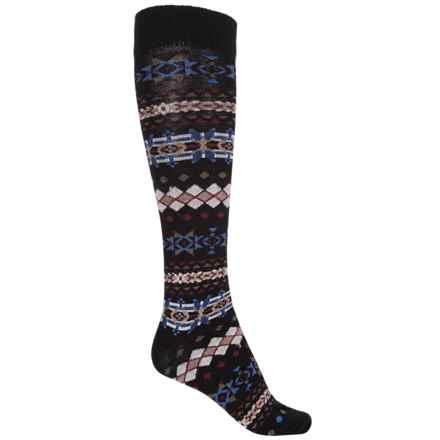 b.ella Lori Knee-High Socks - Merino Wool, Over the Calf (For Women) in Caviar - Closeouts