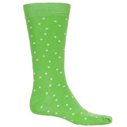 B.Ella Lukas Pindot Socks - Pima Cotton, Crew (For Men) in Lime - Closeouts