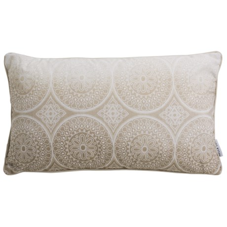 """Bella Lux Cathedral Medallion Decor Pillow - 14x24"""", Reversible, 14x24"""" in Taupe"""