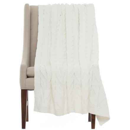 """Bella Lux Cozy Throw Blanket - 50x60"""" in Ivory - Closeouts"""