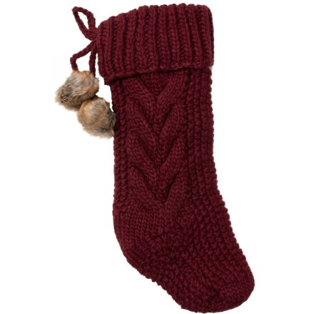 "Bella Lux Duffy Knit Stocking - 22"" in Burgundy - Closeouts 43febc897a21b"