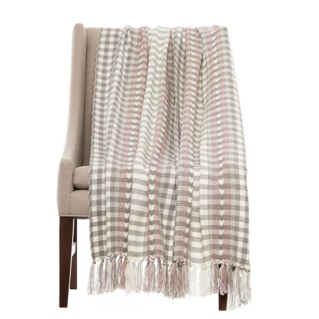 """Bella Lux Minty Woven Throw Blanket - 50x60"""" in Burnished Lilac"""