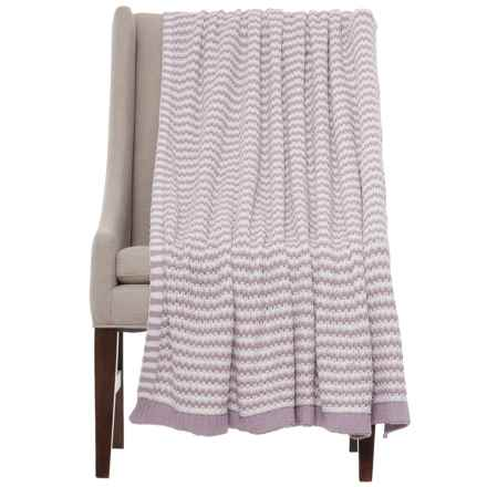 "Bella Lux Woven Stripe Throw Blanket - 50x60"" in Nirvana - Closeouts"