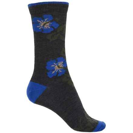 b.ella Marabel Tipped Blossom Socks - Merino Wool, Crew (For Women) in Charcoal - Closeouts