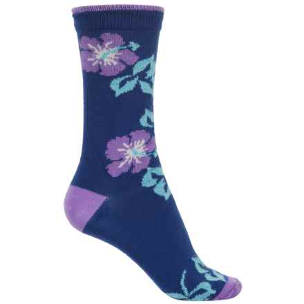 b.ella Marabel Tipped Blossom Socks - Merino Wool, Crew (For Women) in Denim - Closeouts