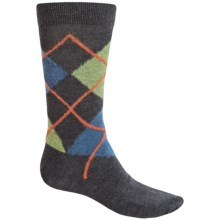 b.ella Marko Argyle Socks - Merino Wool, Crew (For Men) in Charcoal - Closeouts