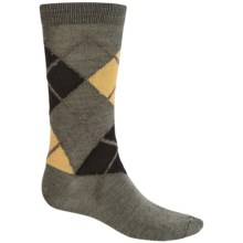 b.ella Marko Argyle Socks - Merino Wool, Crew (For Men) in Olive - Closeouts
