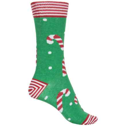 b.ella Merry Holiday Theme Socks - Crew (For Women) in Green - Closeouts