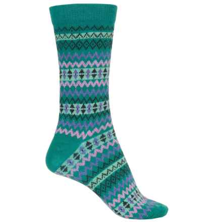 b.ella Mimi Socks - Crew (For Women) in Peacock - Closeouts