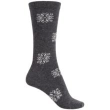 b.ella Morgan Snowflake Socks - Crew (For Women) in Charcoal - Closeouts
