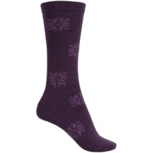 b.ella Morgan Snowflake Socks - Crew (For Women) in Plum - Closeouts