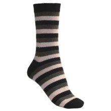 b.ella Multi-Stripe Crew Socks - Wool Blend (For Women) in Black/Pink/Taupe - Closeouts