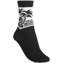 b.ella Nalani Palm Tree Socks (For Women) in Caviar - Closeouts