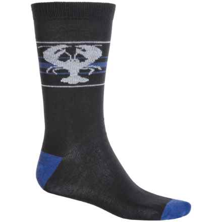 b.ella Newburg Lobster Socks - Crew (For Men) in Caviar - Closeouts