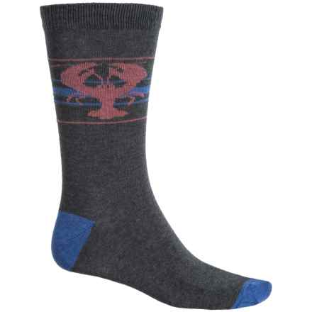 b.ella Newburg Lobster Socks - Crew (For Men) in Charcoal - Closeouts