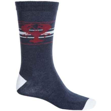 b.ella Newburg Lobster Socks - Crew (For Men) in Navy - Closeouts
