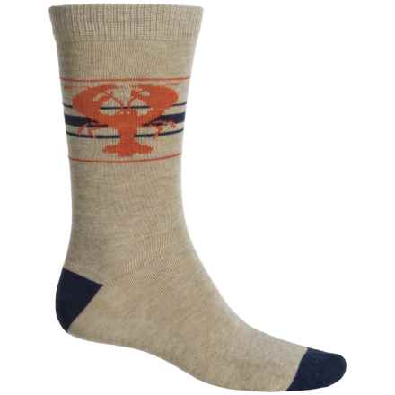 b.ella Newburg Lobster Socks - Crew (For Men) in Taupe - Closeouts