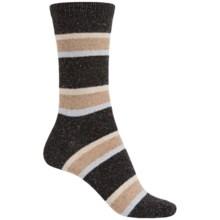 b.ella Nicole Tweedy Socks - Wool Blend, Crew (For Women) in Caviar - Closeouts