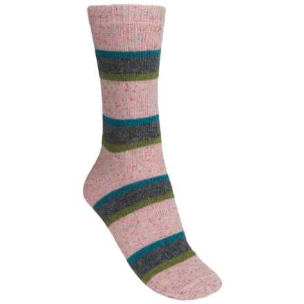 b.ella Nicole Tweedy Socks - Wool Blend, Crew (For Women) in Pink - Closeouts