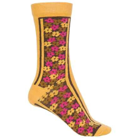 b.ella Olivia Socks - Crew (For Women) in Gold - Closeouts
