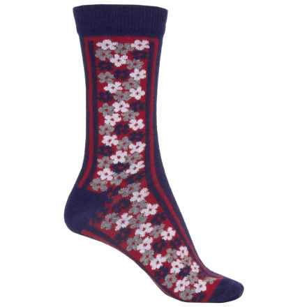 b.ella Olivia Socks - Crew (For Women) in Navy - Closeouts