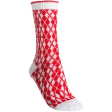 b.ella Pam Mini Argyle Socks - Crew (For Women) in Red - Closeouts