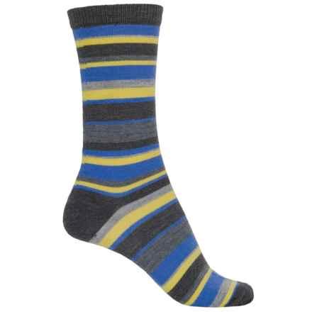 b.ella Pella Socks - Merino Wool, Crew (For Women) in Charcoal/Blue/Yellow - Closeouts