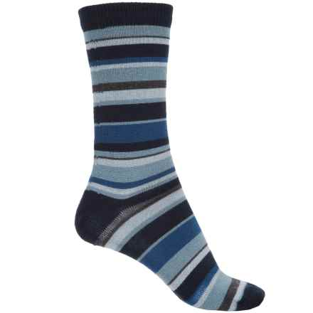 b.ella Pella Socks - Merino Wool, Crew (For Women) in Navy/Grey Blue/Blue - Closeouts