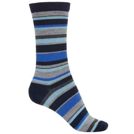 b.ella Pella Socks - Merino Wool, Crew (For Women) in Navy/Grey Heather/Blue - Closeouts