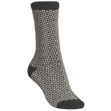 b.ella Pepper Socks - Wool-Cashmere Blend, Crew (For Women) in Caviar/Black - Closeouts