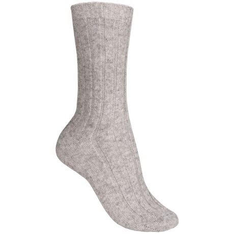 b.ella Rib Crew Socks - Cashmere Blend, Crew (For Women) in Grey
