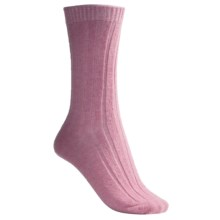 b.ella Rib Socks - Wool Blend, Crew (For Women) in Pink - Closeouts